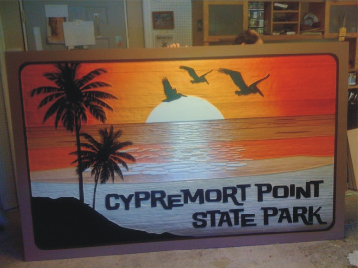 Baton Rouge Sandblasted Sign For Cypremort Point State Park Photo - Greater Baton Rouge Signs