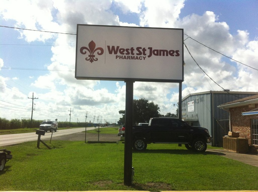 St James Pharmacy Lighted Sign