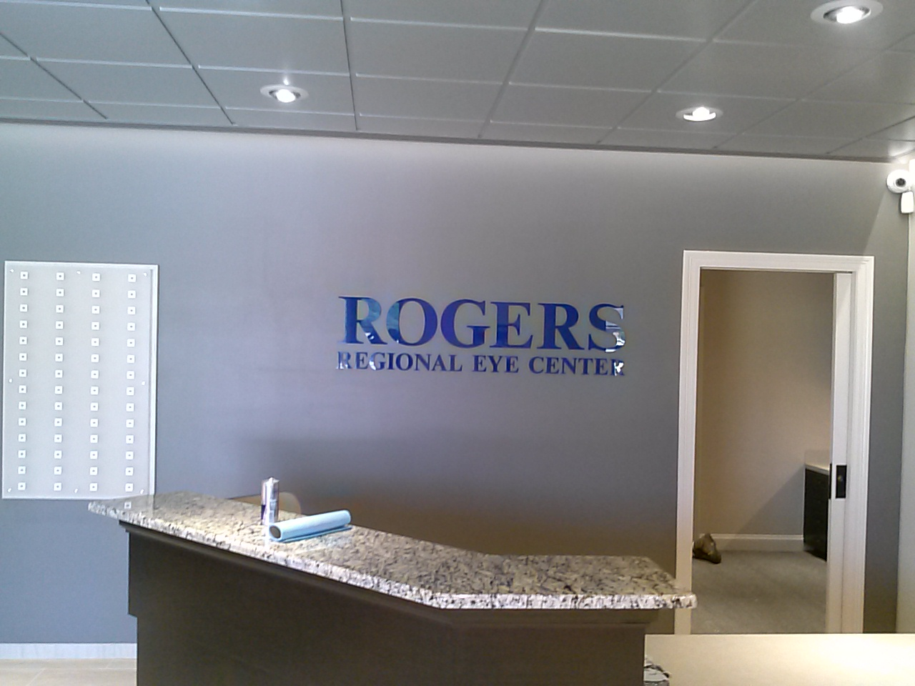 Rogers Regional Eye Center Nonlit - Letters Sign