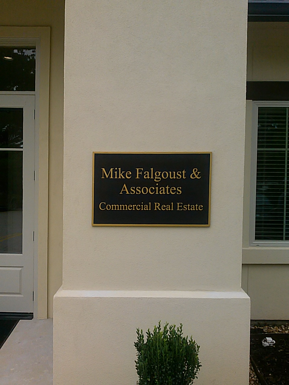 Mike Falgoust & Associates Bronze Plaque - Greater Baton Rouge Signs