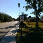 Forest Creek Subdivision - Speed Limit Sign Photo - Greater Baton Rouge Signs