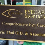 Premier Eyecare and Optical Faux Bronze Look, HDU Sandblasted Sign Bronze Plaque - Greater Baton Rouge Signs