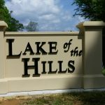 Lake of the Hills Nonlit Letters Signs - Greater Baton Rouge Signs
