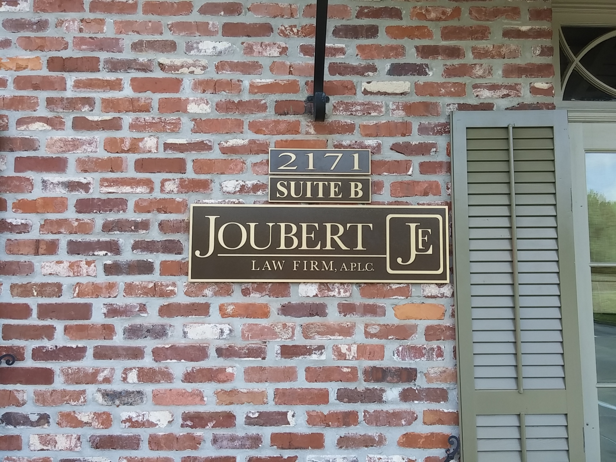 Joubert JF Bronze Plaque Sign - Greater Baton Rouge Signs