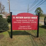 St. Matthew Baptist Church - Greater Baton Rouge Signs