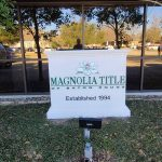 Magnolia Title of Baton Rouge Sign - Greater Baton Rouge Signs